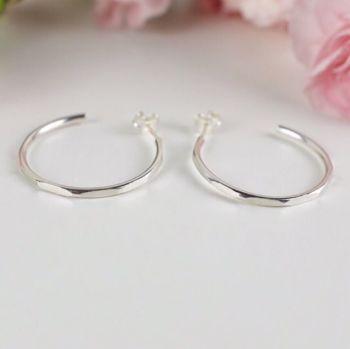 Skylda Hoop Stud Earrings