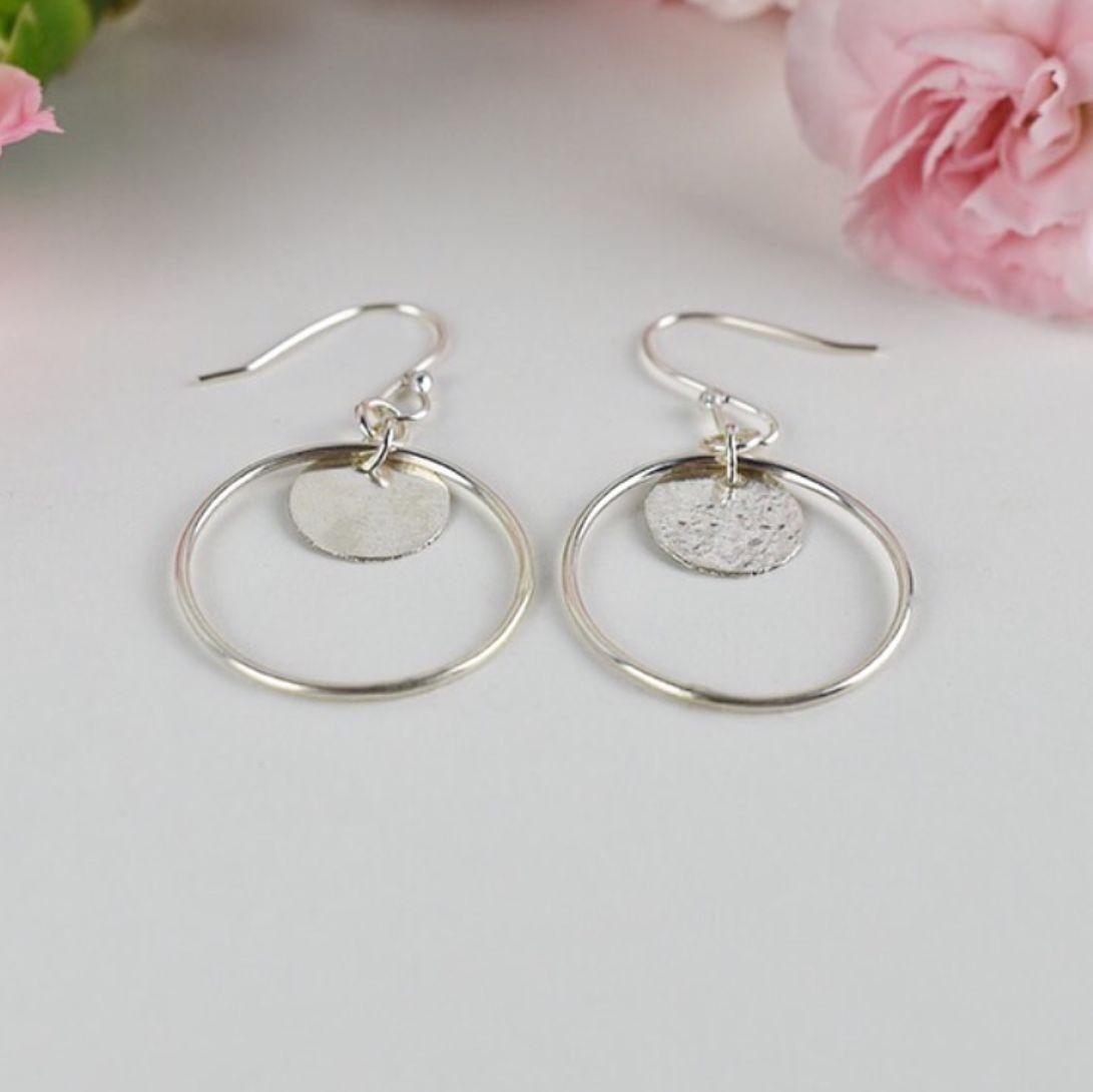 Elska Hoop and Disc Drop Earrings