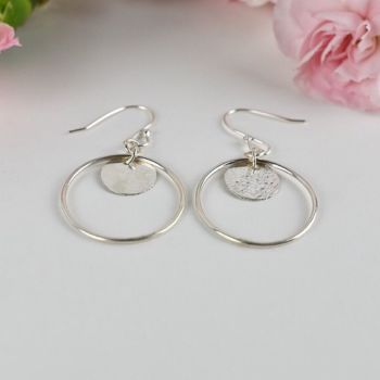 Elska Hoop and Disc Drop Earrings