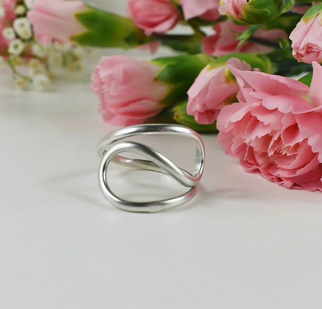 Ecosilver ring handcrafted by The Sylverling Workshop