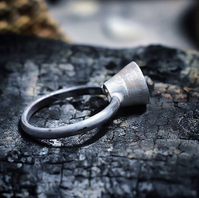 Handcrafting a collet set ring out of recycled Sterling silver by The Sylverling Workshop