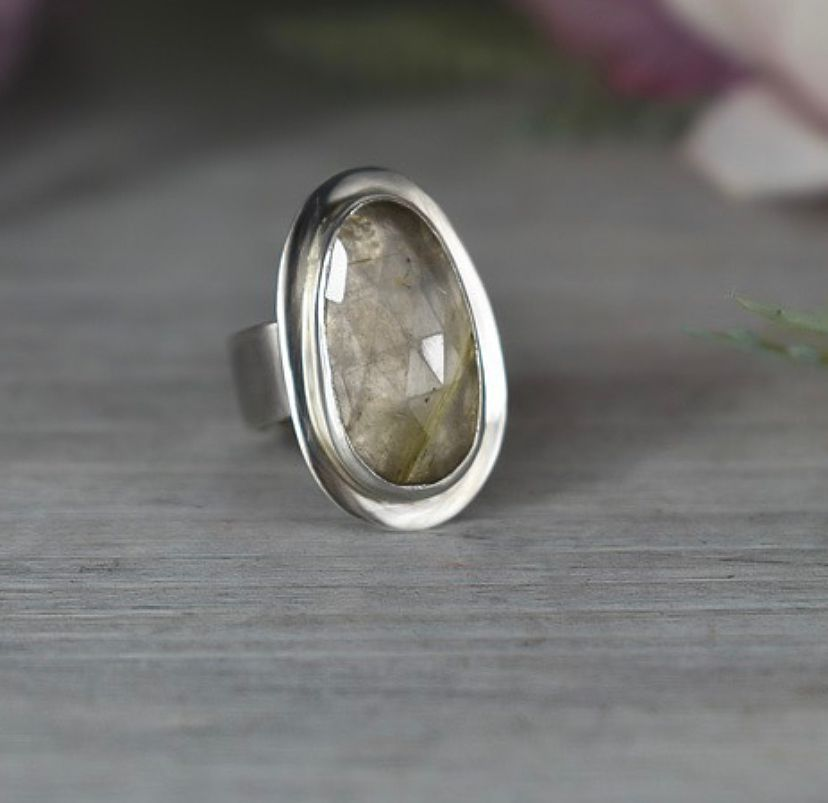Rutile Quartz Ring Handcrafted from Racycled Sterling Silver by The Sylverling Workshop.jpg