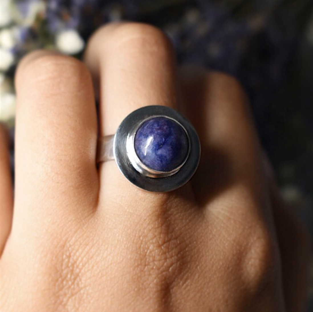 One of a Kind Ecosilver and Fine silver Gemstone handcrafted Rings by The Sylverling Workshop
