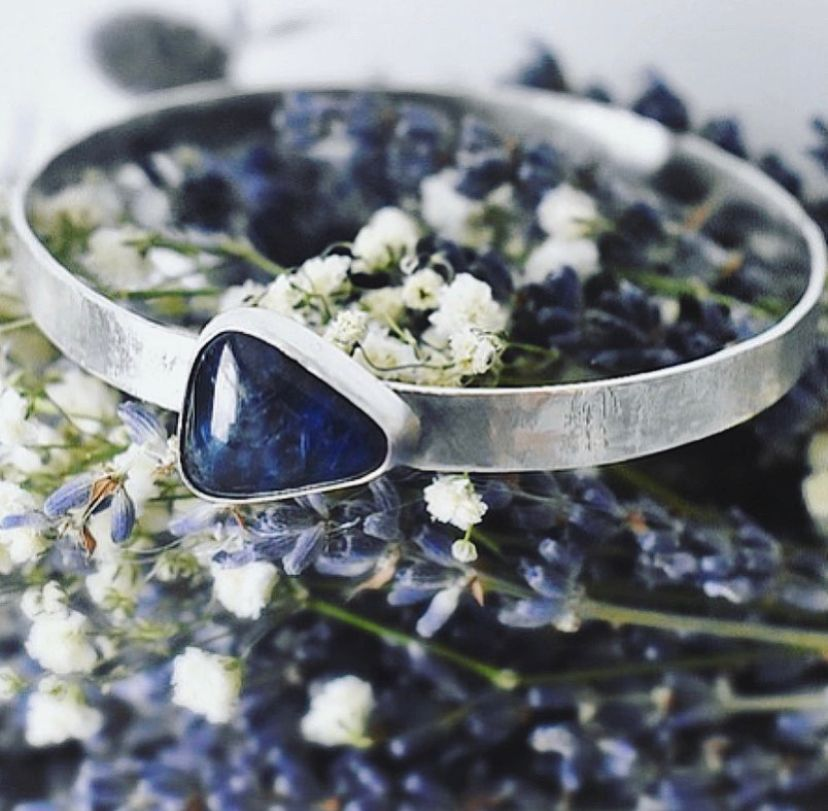 Textured Sodalite Bangle handcrafted from Ecosilver by The Sylverling Workshop.jpg