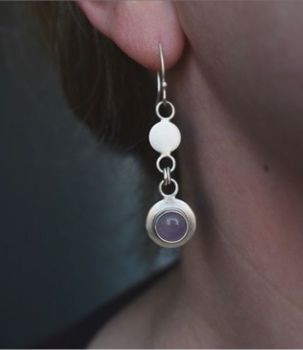 Gersemi Lavender Amethyst Link Drop Earrings