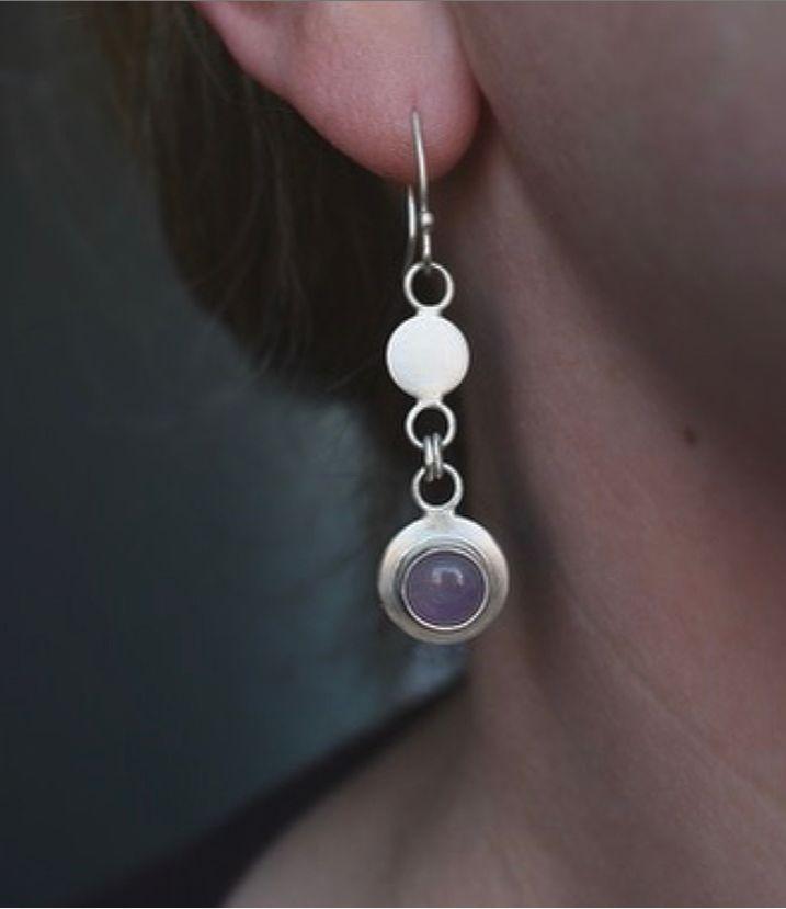 Handmade To Order Gersemi Lavender Amethyst Link Drop Earrings