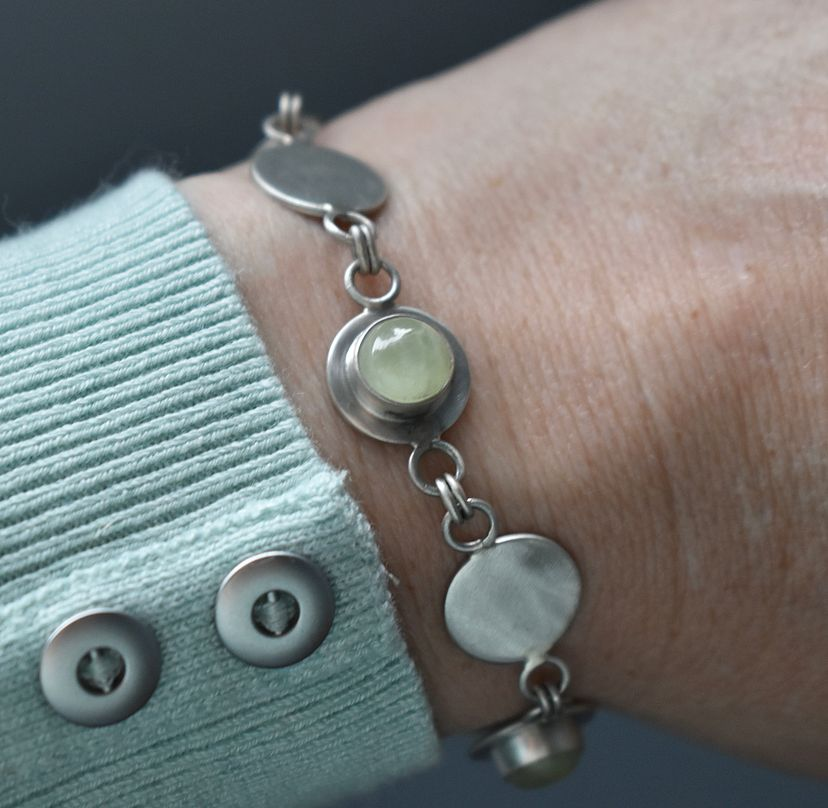 Gersemi collection Prehnite Bracelet handcrafted by The Sylverling Workshop2.jpg