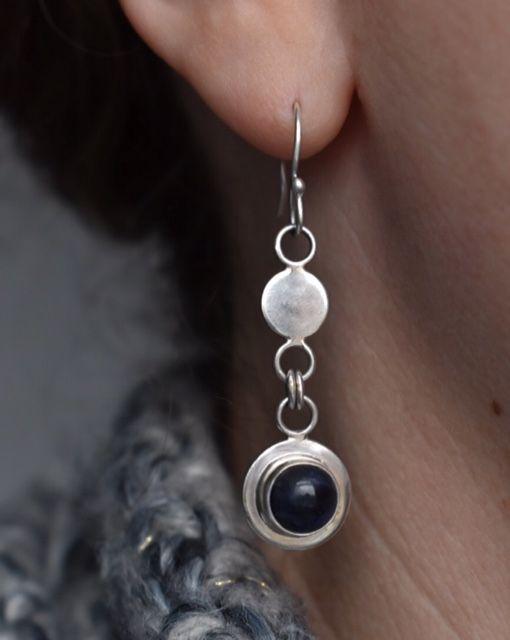 Handmade To Order Gersemi Sodalite Link Drop Earrings