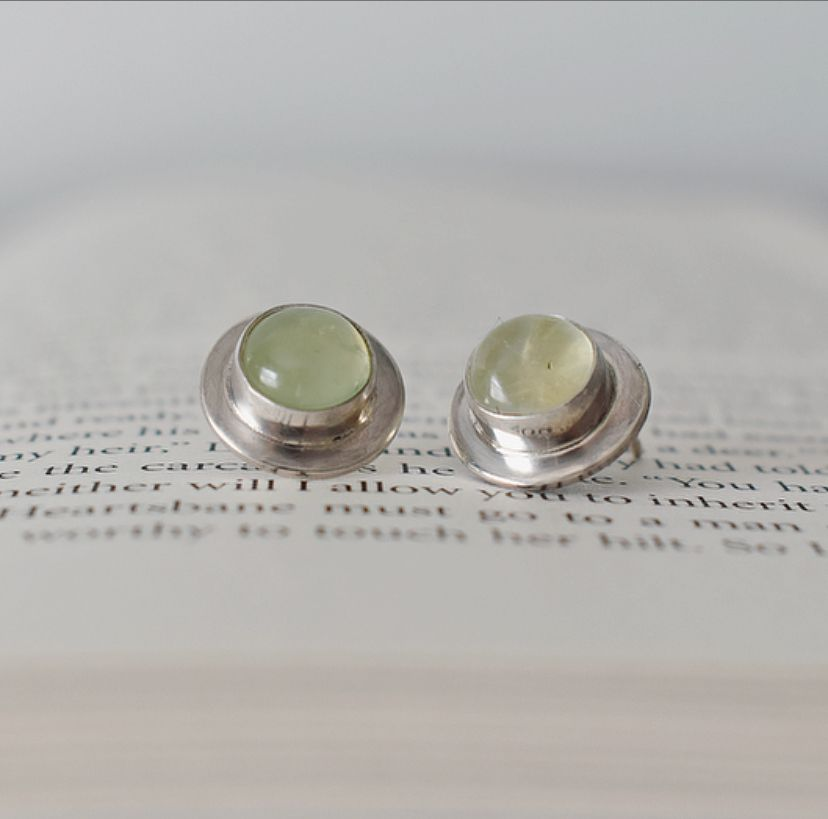 Gersemi Prehnite Stud Earrings