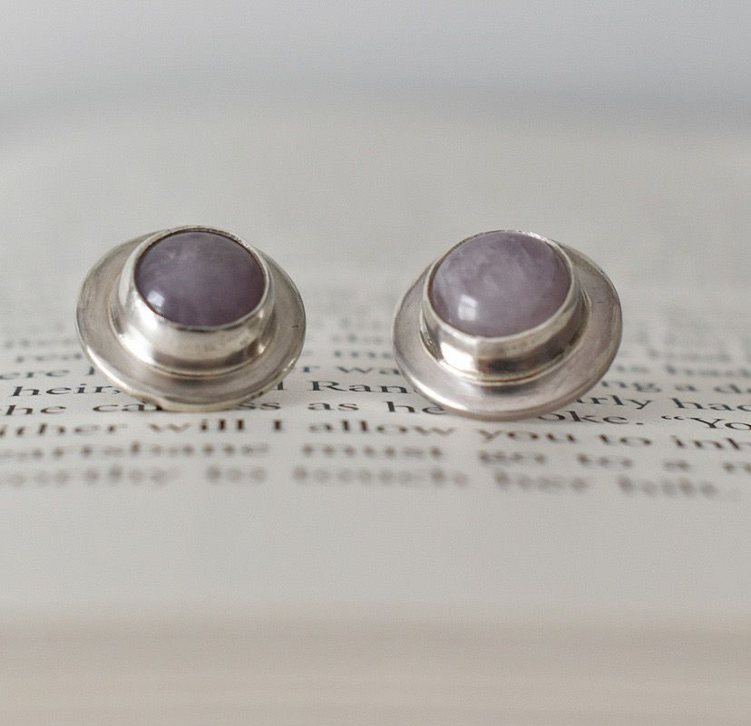 Gersemi Lavender Amethyst Stud Earrings
