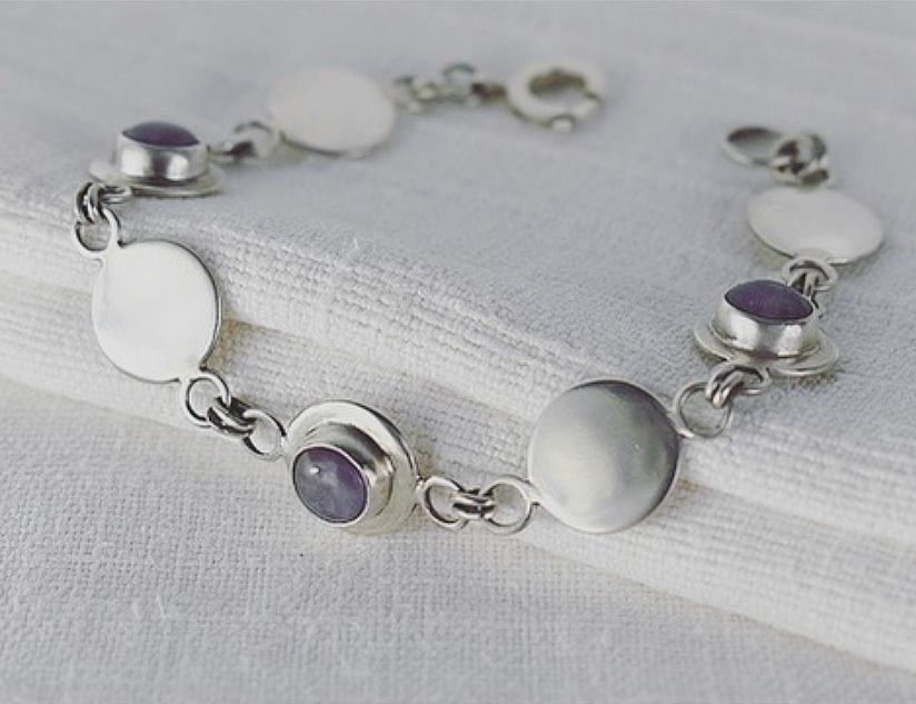 Gersemi Lavender Amethyst Ecosilver Bracelet handcrafted by The Sylverling Workshop