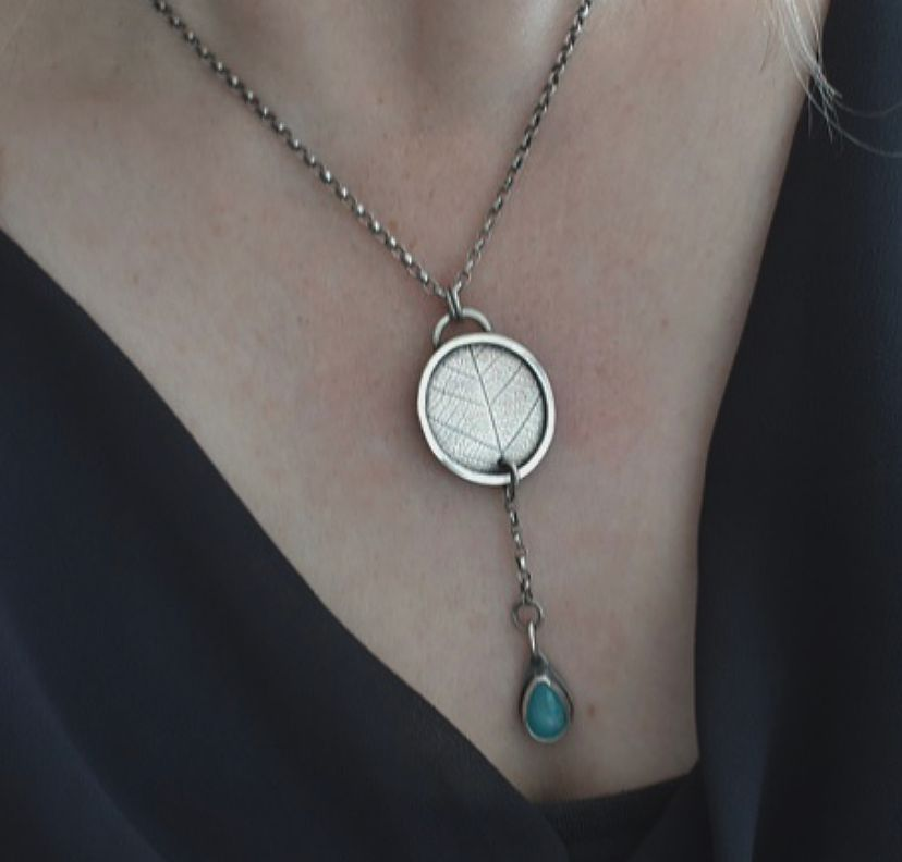 Woodland Amazonite Necklace by The Sylverling Workshop