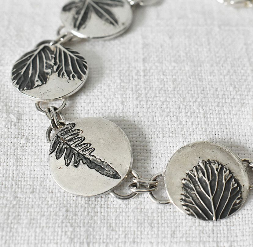 Forest Ecosilver leaves bracelet handmade by The Sylverling Workshop.jpg