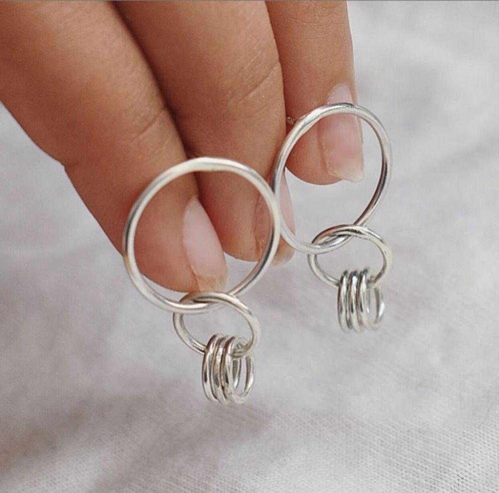 Ulla Hoop Stud Earrings