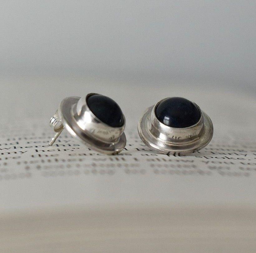 Gersemi Sodalite Stud Earrings-Handmade To Order