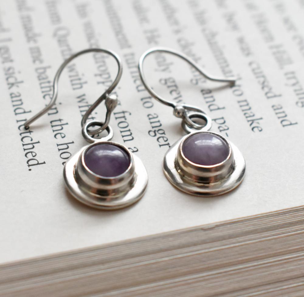 Gersemi Lavender Amethyst Drop Earrings-Handmade To Order