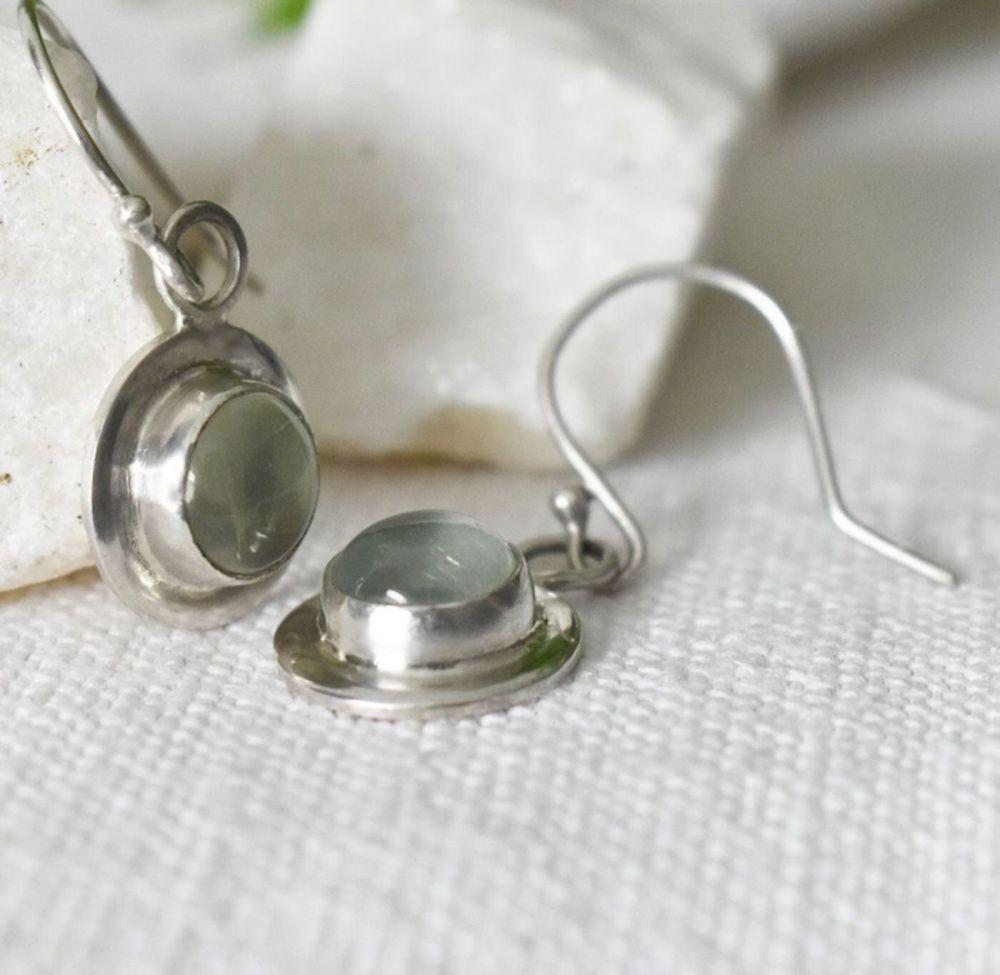 Gersemi Prehnite Drop Earrings-Handmade To Order