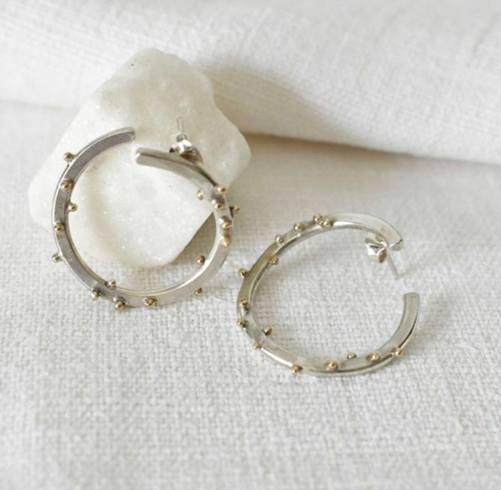 Étoiles Stud Earrings (with SMO Gold)