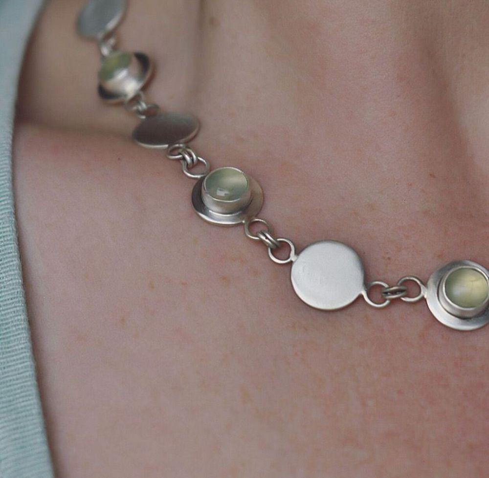 Gersemi Prehnite Necklace-Handmade To Order