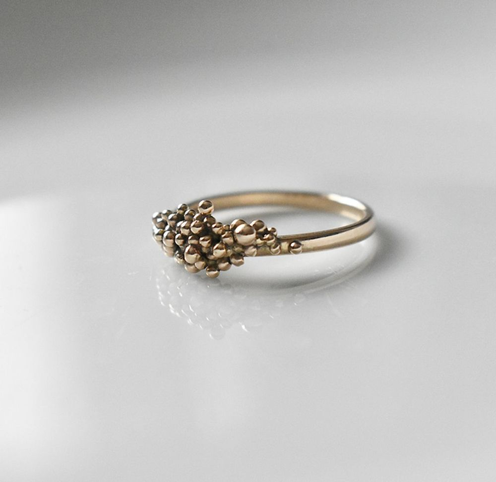 Handmade To Order- Ocean Floor Granulation Ring
