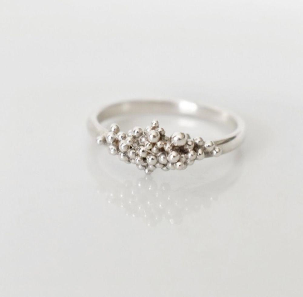 Handmade To Order - Eco Silver Ocean Floor Ring