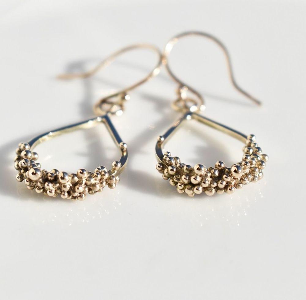 Ocean Floor Drop Earrings -SMO Gold