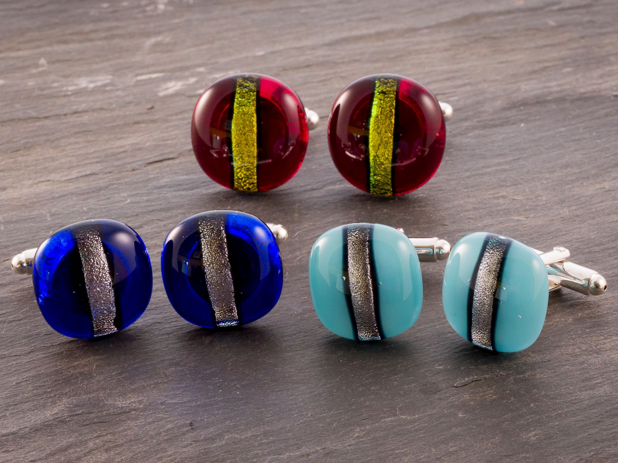 Classic but distinguished cufflinks for the man who likes to wear something unusual and get noticed