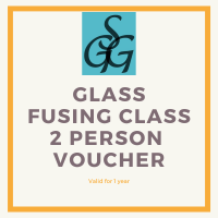 2-hour glass fusing class voucher for 2 people