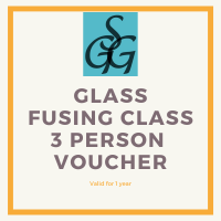 2-hour glass fusing class voucher for 3 people