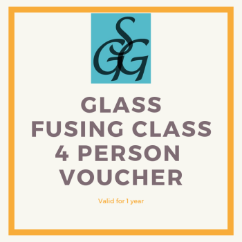 2-hour glass fusing class voucher for 4 people