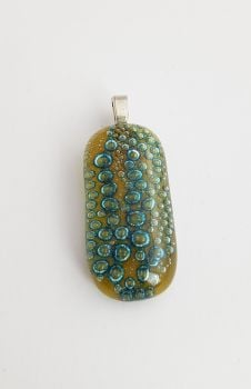 Bubbles - Amber yellow bubbles pendant