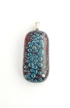 Bubbles - Garnet red bubbles pendant
