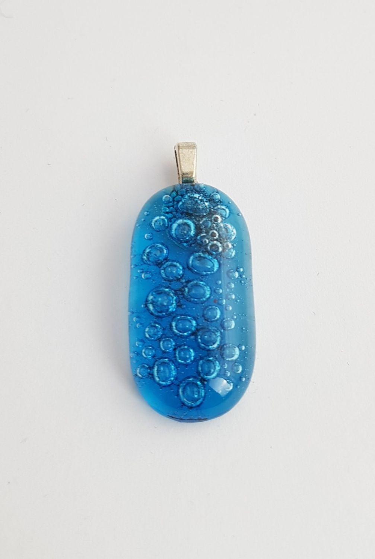 Turquoise blue bubbles pendant
