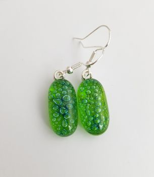 Bubbles - Lime green bubbles drop earrings