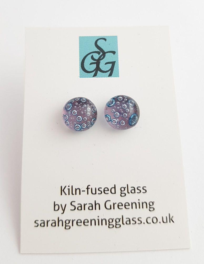 Pale purple bubbles stud earrings