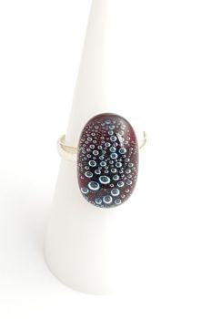 Bubbles - Garnet red bubbles ring