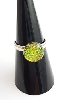 Dichroic - Gold/green dichroic ring