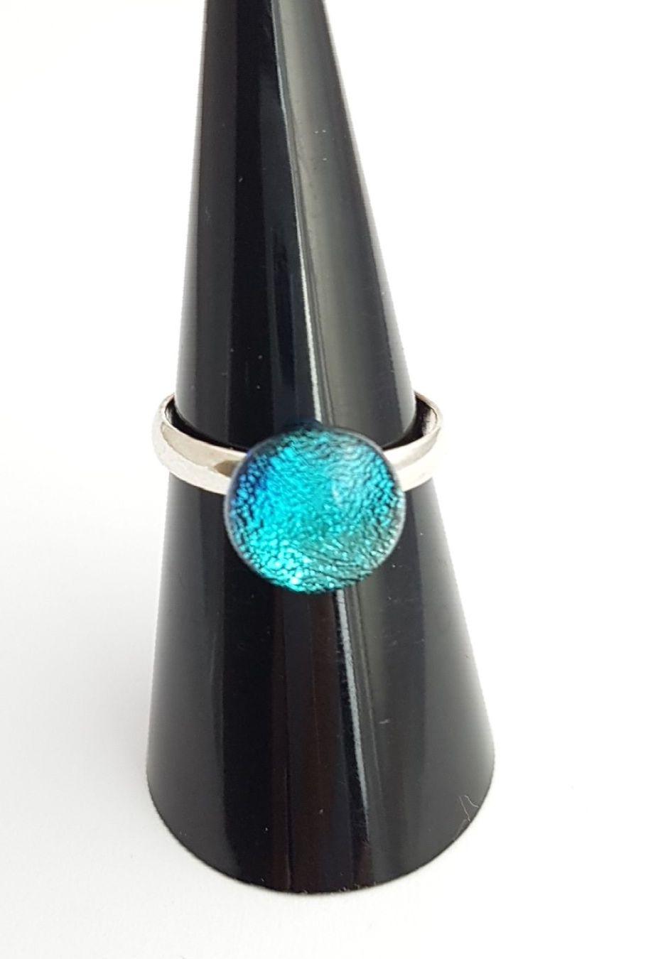 Dichroic - Cyan blue dichroic ring