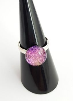 Dichroic - Magenta pink dichroic ring