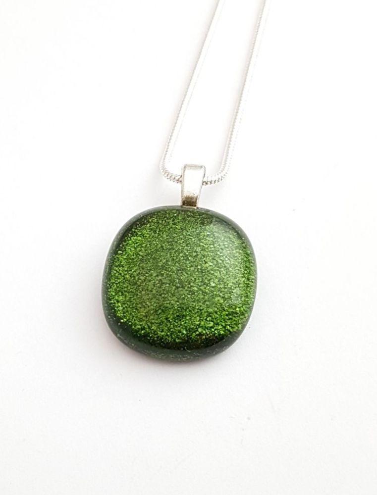 Sparkly Aventurine green pendant
