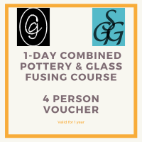 Combined Pottery & Glass Fusing  1-day Course for 4 people