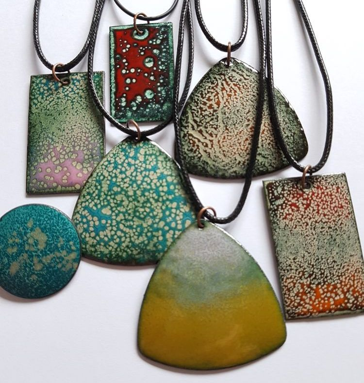 Enamelled copper