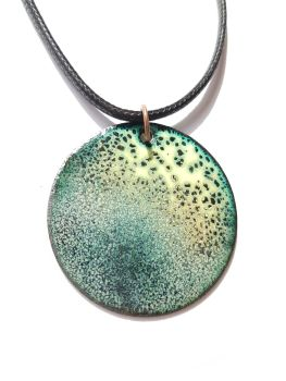 Spring green with black speckles necklace