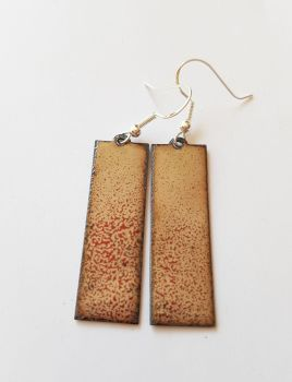 Maroon red and cream speckled earrings