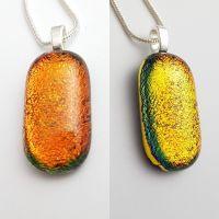 Dichroic - coppery-orange multicoloured