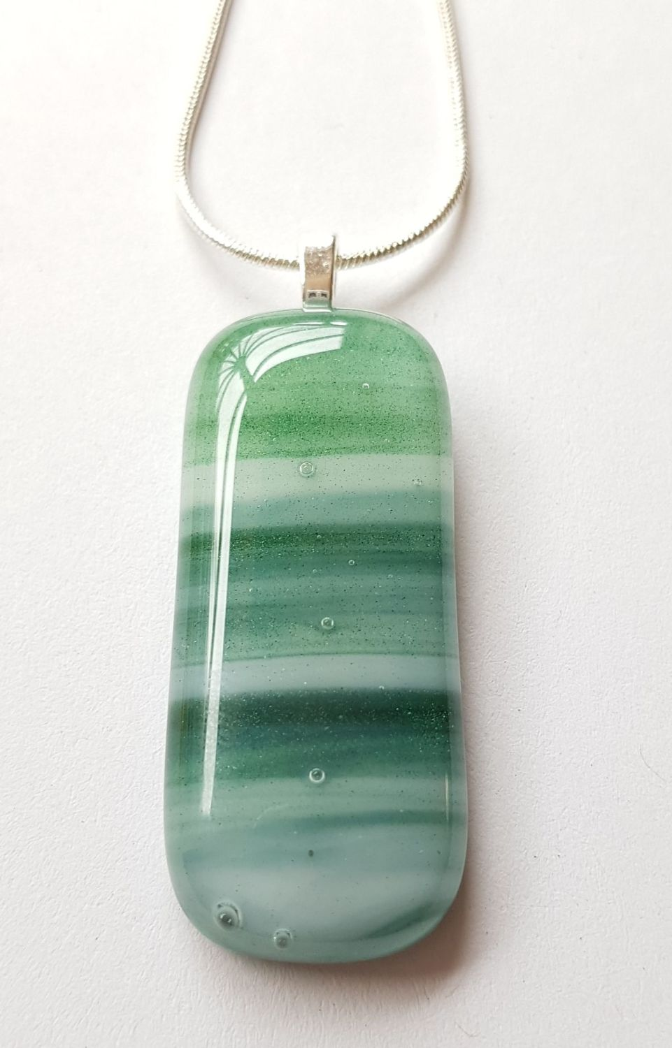 Swirly greens pendant