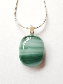 Swirly greens small pendant