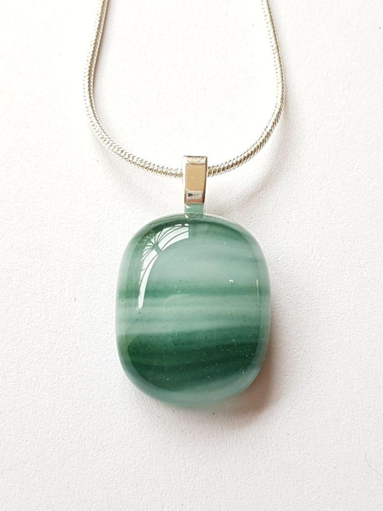 Swirly greens small pendant