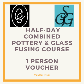 Combined Pottery & Glass Fusing  Half-day Course for 1 person