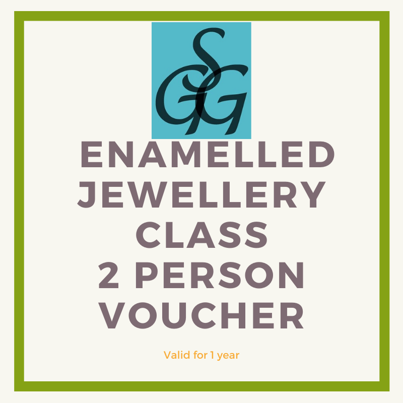 Enamelled jewellery class voucher for 2 people